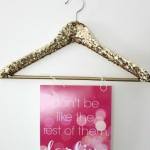 Sequined Sparkle Coat Hanger