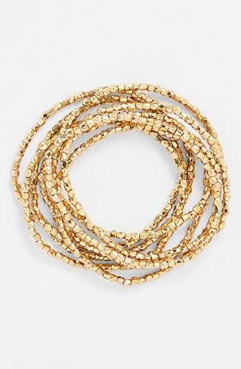 'Layers of Love' Gold Sparkle Bracelets