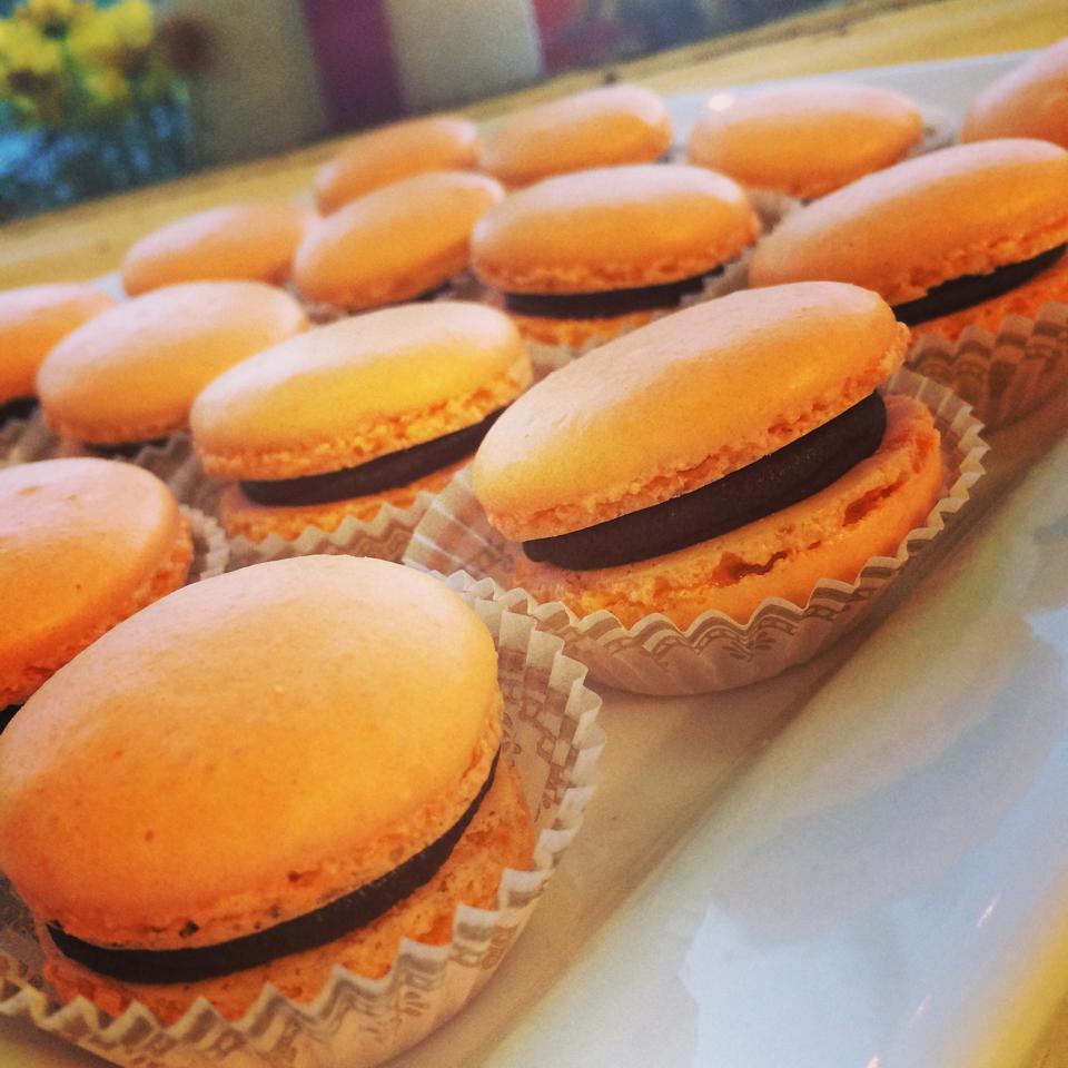 Pumpkin Macarons by Elle's Patisserie