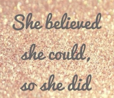 Sparkle Inspiration: She Believed