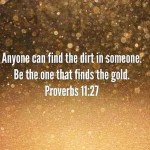 Sparkle Inspiration: Be the one that finds the gold