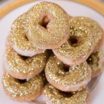 Gold Glitter Donuts