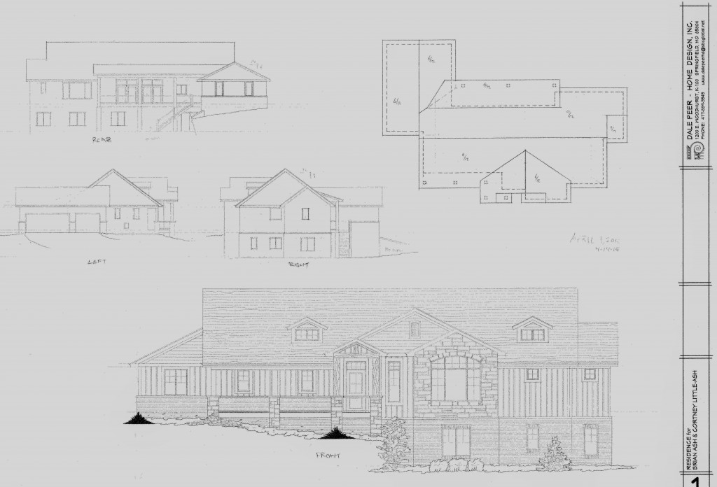 our new dream home exterior house plans
