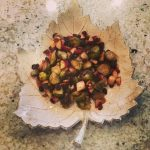 BHG's Oven-Roasted Brussels Sprouts with Apples, Cranberries and Pecans